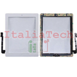 VETRO TOUCHSCREEN ASSEMBLATO per iPad 3 touch screen tasto home biadesivo BIANCO