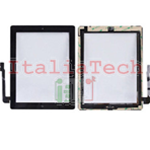 VETRO TOUCHSCREEN ASSEMBLATO per iPad 3 touch screen tasto home biadesivo NERO