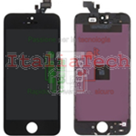 TOUCH SCREEN + LCD DISPLAY RETINA + FRAME PER APPLE IPHONE 5 VETRO SCHERMO NERO TOP AAA+