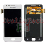 DISPLAY ORIGINALE per SAMSUNG GT i9100 GALAXY S2 LCD VETRINO BIANCO TOUCH SCREEN