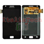 DISPLAY ORIGINALE per SAMSUNG GT i9100 GALAXY S2 LCD VETRINO NERO TOUCH SCREEN