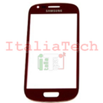 VETRINO per touchscreen Samsung i8190 touch screen rosso VETRO Galaxy S3 mini