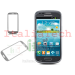 VETRINO per touchscreen Samsung i8190 touch screen grigio VETRO Galaxy S3 mini