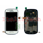 DISPLAY LCD TOUCHSCREEN COMPLETO FLAT PER SAMSUNG GALAXY S3 mini i8190 BIANCO