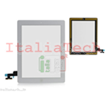 VETRO TOUCHSCREEN ASSEMBLATO per iPad 2 touch screen tasto home biadesivo BIANCO