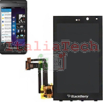 DISPLAY LCD + TOUCH SCREEN VETRO PER BLACKBERRY Z10 assemblato touchscreen NERO