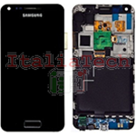 DISPLAY touchscreen completo FRAME LCD per Samsung i9070 Galaxy S Advance NERO