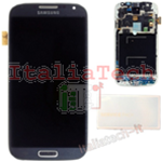 DISPLAY LCD ORIGINALE Samsung i9505 Galaxy S4 NERO vetrino touch vetro schermo