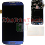 DISPLAY LCD ORIGINALE Samsung i9505 Galaxy S4 ARTIC BLUE vetrino touch vetro schermo