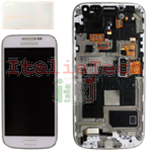 DISPLAY LCD ORIGINALE Samsung i9195 Galaxy S4 Mini BIANCO touch vetro schermo completo