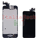 DISPLAY LCD ASSEMBLATO per iPhone 5 nero vetro touchscreen schermo COMPLETO TOP AAA+
