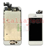 DISPLAY LCD ASSEMBLATO per iPhone 5 bianco vetro touchscreen schermo COMPLETO TOP AAA+