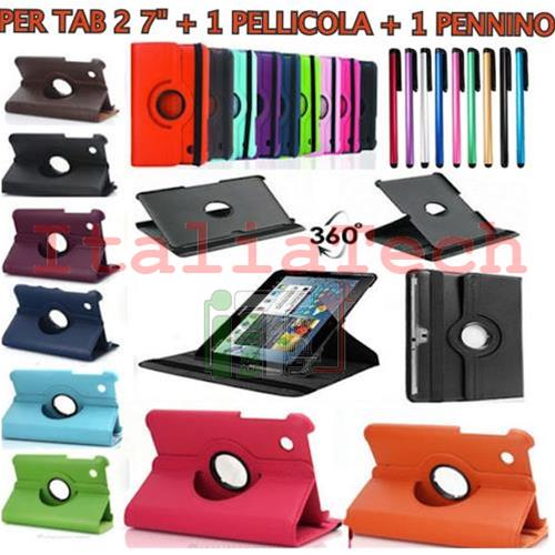 KIT SMART COVER PER SAMSUNG GALAXY TAB 2 P3100 P3110 7.0 7 POLLICI CUSTODIA TABLET