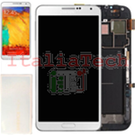 DISPLAY LCD ORIGINALE Samsung n9005 Galaxy NOTE 3 BIANCO touch vetro schermo