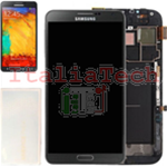 DISPLAY LCD ORIGINALE Samsung n9005 Galaxy NOTE 3 NERO touch vetro schermo