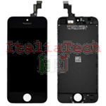 DISPLAY TOUCHSCREEN LCD COMPLETO per iPhone 5s NERO vetro touch schermo vetrino TOP AAA+