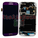 DISPLAY LCD ORIGINALE Samsung i9505 Galaxy S4 PURPLE MIRAGE VIOLA touch vetro schermo