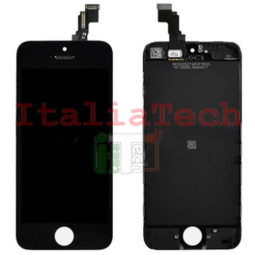 DISPLAY TOUCHSCREEN LCD COMPLETO per iPhone 5c NERO vetro touch screen vetrino TOP AAA+