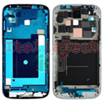 TELAIO CENTRALE per Samsung i9505 Galaxy S4 metal silver plate MIDDLE FRAME nero