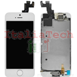 DISPLAY LCD ASSEMBLATO per iPhone 5s bianco vetro touchscreen schermo COMPLETO TOP AAA+