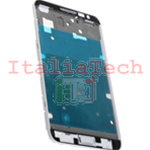 TELAIO CENTRALE per Samsung n7000 Galaxy Note metal silver plate MIDDLE FRAME bianco