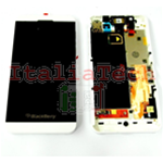 DISPLAY LCD TOUCHSCREEN CORNICE COMPLETO PER BLACKBERRY Z10 assemblato BIANCO 3G