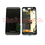 DISPLAY LCD TOUCHSCREEN CORNICE COMPLETO PER BLACKBERRY Z10 assemblato NERO 3G