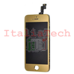 DISPLAY LCD ASSEMBLATO per iPhone 5s ORO vetro touchscreen schermo COMPLETO