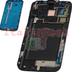 TELAIO CENTRALE per Samsung n7100 Galaxy Note 2 metal silver plate MIDDLE FRAME bianco