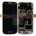DISPLAY LCD ORIGINALE Samsung i9195 Galaxy S4 Mini NERO touch vetro schermo completo