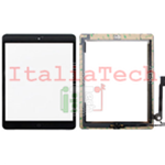 VETRO TOUCHSCREEN ASSEMBLATO per iPad 4 touch screen tasto home biadesivo NERO
