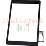 VETRO TOUCHSCREEN ASSEMBLATO per iPad 5 Air touch screen tasto home biadesivo NERO