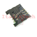 LETTORE SCHEDA SIM CARD PER SAMSUNG GT-S5570i Galaxy Next Turbo socket no flat flex