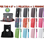 KIT SMART COVER per SAMSUNG GALAXY TAB 4 T330 T331 T335 8.0 POLLICI CUSTODIA TABLET