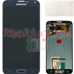 DISPLAY LCD ORIGINALE Samsung G900 Galaxy S5 NERO vetrino touch vetro schermo