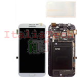 DISPLAY LCD ORIGINALE Samsung N7100 Note 2 BIANCO touch screen vetro schermo completo