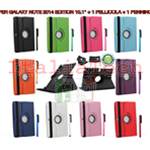 KIT SMART COVER per SAMSUNG GALAXY TAB NOTE 2014 EDITION 10.1 P600 P601 P605 POLLICI CUSTODIA TABLET