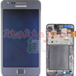 DISPLAY LCD ORIGINALE Samsung i9105P Galaxy S2 Plus BLU touch vetro schermo vetrino