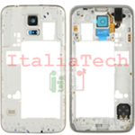 CORNICE CENTRALE per Samsung G900 G900F Galaxy S5 middle plate FRAME TASTO ON OFF VOLUME cover
