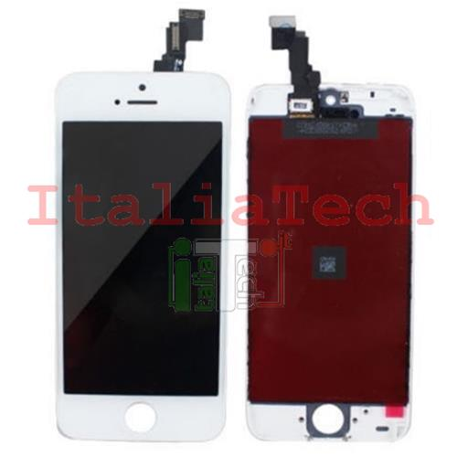 DISPLAY TOUCHSCREEN LCD COMPLETO per iPhone 5c BIANCO vetro touch screen vetrino AAA+