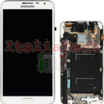DISPLAY LCD ORIGINALE Samsung N7505 Galaxy NOTE 3 Neo BIANCO touch vetro schermo