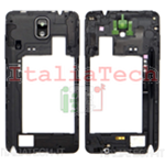 CORNICE CENTRALE per Samsung n9005 Galaxy NOTE 3 NERO middle plate FRAME cover