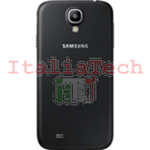 SCOCCA posteriore Samsung i9505 BLACK EDITION back cover copri batteria Galaxy S4 i9500