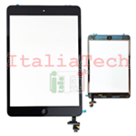 VETRINO touchscreen ASSEMBLATO per iPad Mini 2 Retina NERO vetro touch tasto home IC chip