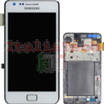 DISPLAY LCD ORIGINALE Samsung i9105P Galaxy S2 Plus BIANCO touch vetro schermo vetrino