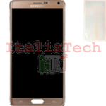 DISPLAY LCD ORIGINALE Samsung N910F Note 4 GOLD ORO touch vetro schermo completo