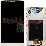DISPLAY LCD SCHERMO originale per LG Optimus G3 oro vetro touch assemblato D855