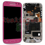 DISPLAY LCD ORIGINALE Samsung i9195 Galaxy S4 Mini ROSA touch vetro schermo completo