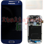 DISPLAY LCD ORIGINALE Samsung i9195 Galaxy S4 Mini BLU touch vetro schermo completo