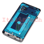 TELAIO CENTRALE per Samsung N9005 Galaxy Note 3 metal silver plate MIDDLE FRAME